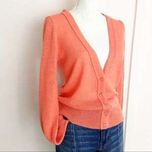 J. Crew delphine jewel button cardigan in melon M